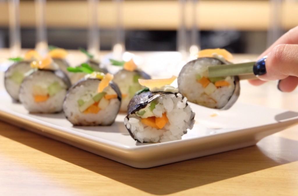 Sushi de Maki Make en Inauguración del espacio multifood Plaza Goya en Zaragoza. Blog de Zaragoza Increíble pero cierzo