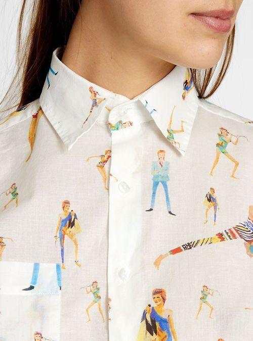 Camisa con dibujos de david bowie en el blog de moda increible pero cierzo