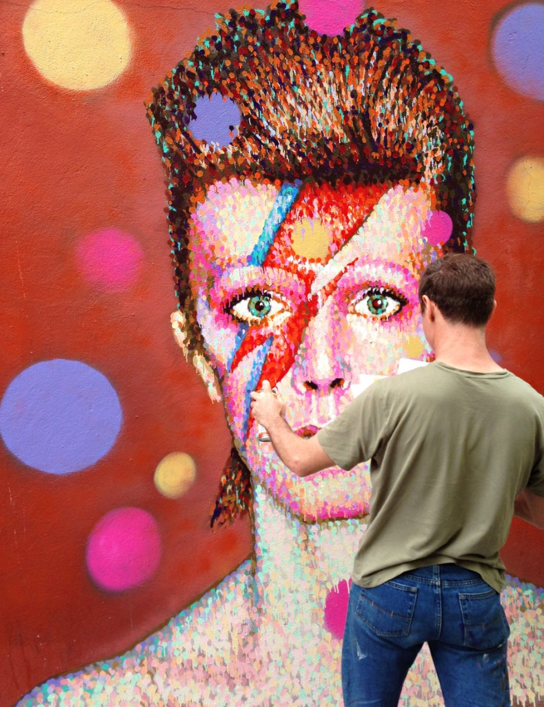 bowie graffiti Brixton by James Cochran, aka Jimmy C,