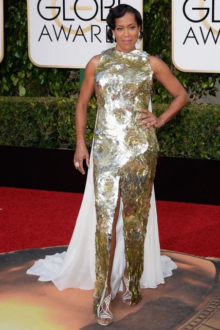 Regina King, nominada a Mejor Actriz de Reparto, de las peor vestidas en la gala de los globos de oro 2016 segun el blog de moda increible pero cierzo