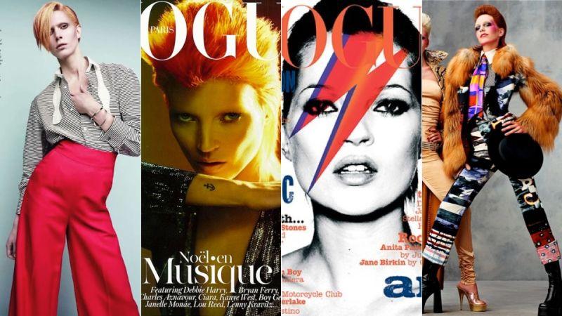 david bowie inspiración para numerosas portadas de las mejores cabeceras de moda del mundo.