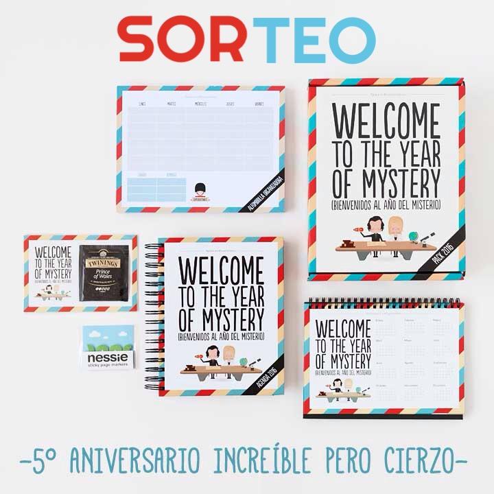 Sorteo pack 2016 Bienvenidos al año del misterio de Superbritanico por el 5 aniversario del blog de moda increíble pero cierzo de laguiago.com