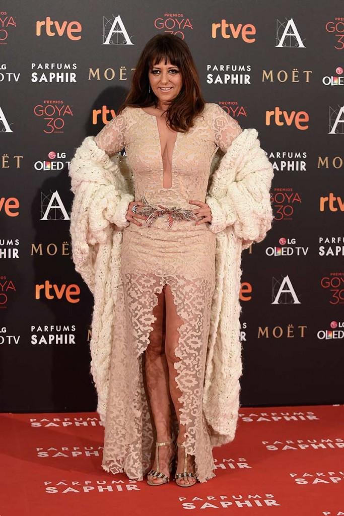 yolanda ramos la peor vestida de la gala de los goya 2016 según la lista de los peor vestidos de la alfombra roja del blog increíble pero cierzo