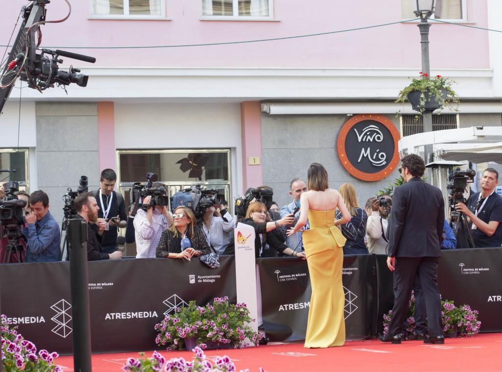 alfombra roja inauguración 19 edición festival cine málaga por el blog de moda y lifestyle increíble pero cierzo de laguiago.com