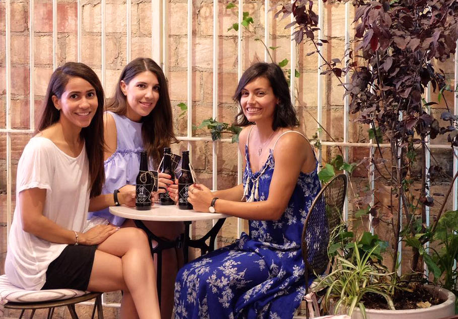 Brunch de The Nook con influencers: Migue de A Hungry Blog, Carmen de Mua Carmen y Andrea de Increible pero cierzo