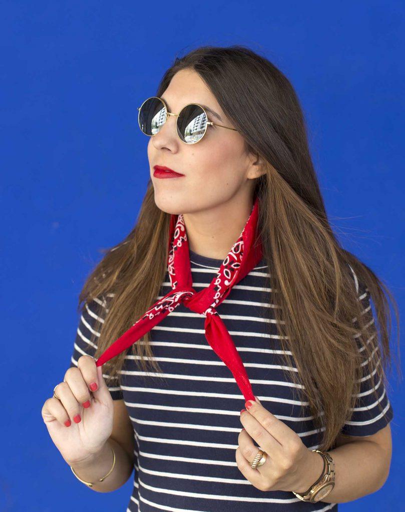 moda de las bandanas en el blog de moda cuello increible pero cierzo