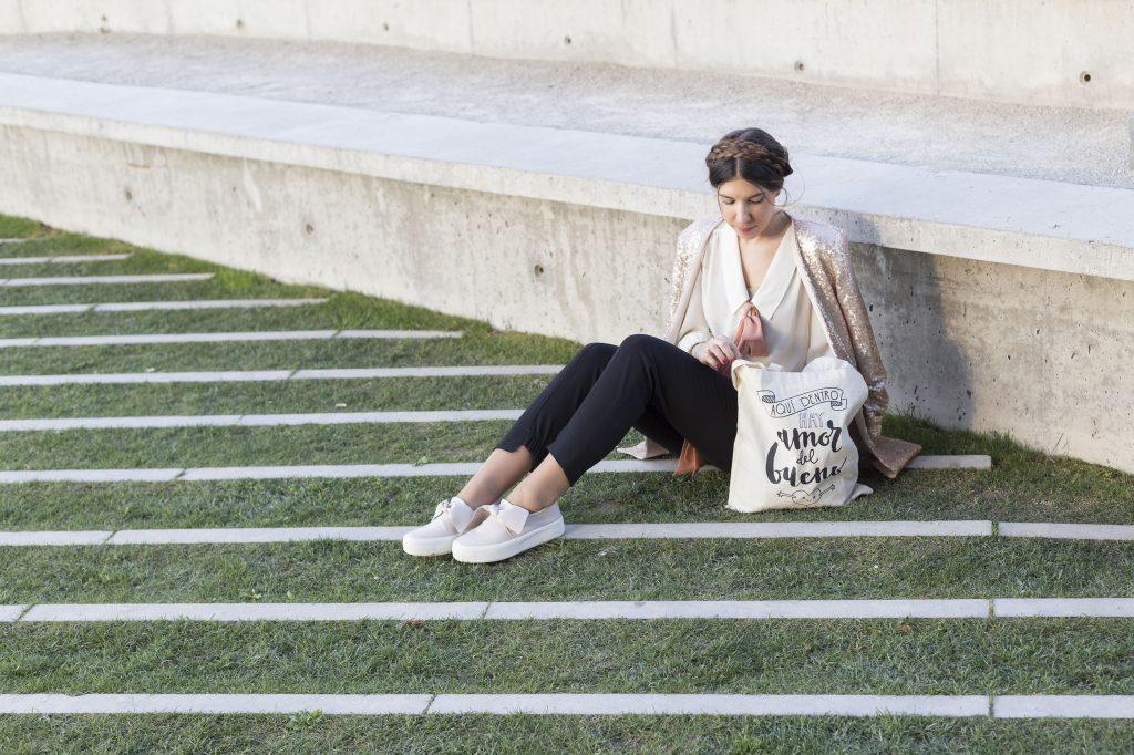 Chaqueta lentejuelas moda en el blog increíble pero cierzo. CLP Shop Zaragoza