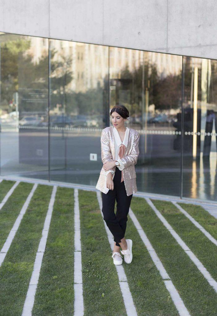 Chaqueta de lentejuelas moda en el blog increíble pero cierzo. CLP Shop Zaragoza