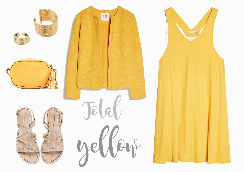 Tendencia amarillo Esprit. Look total yellow por increible pero cierzo