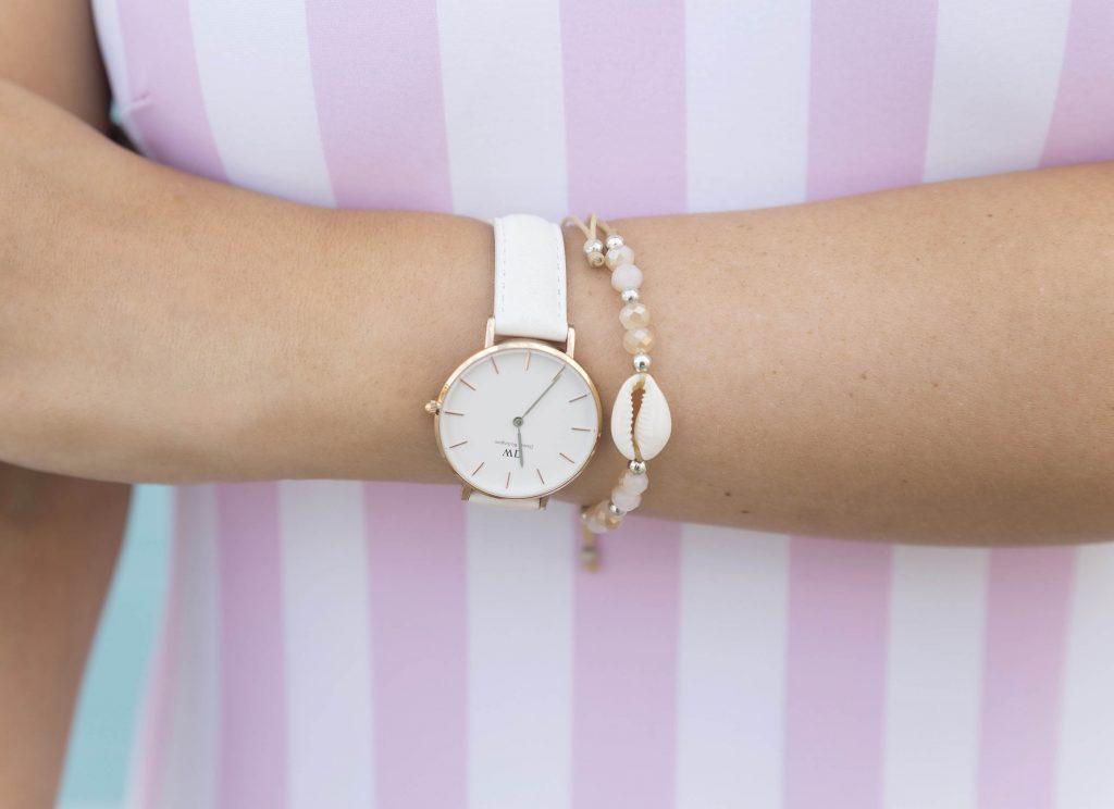 Reloj blanco de Daniel Wellington en el blog de moda increibleperocierzo