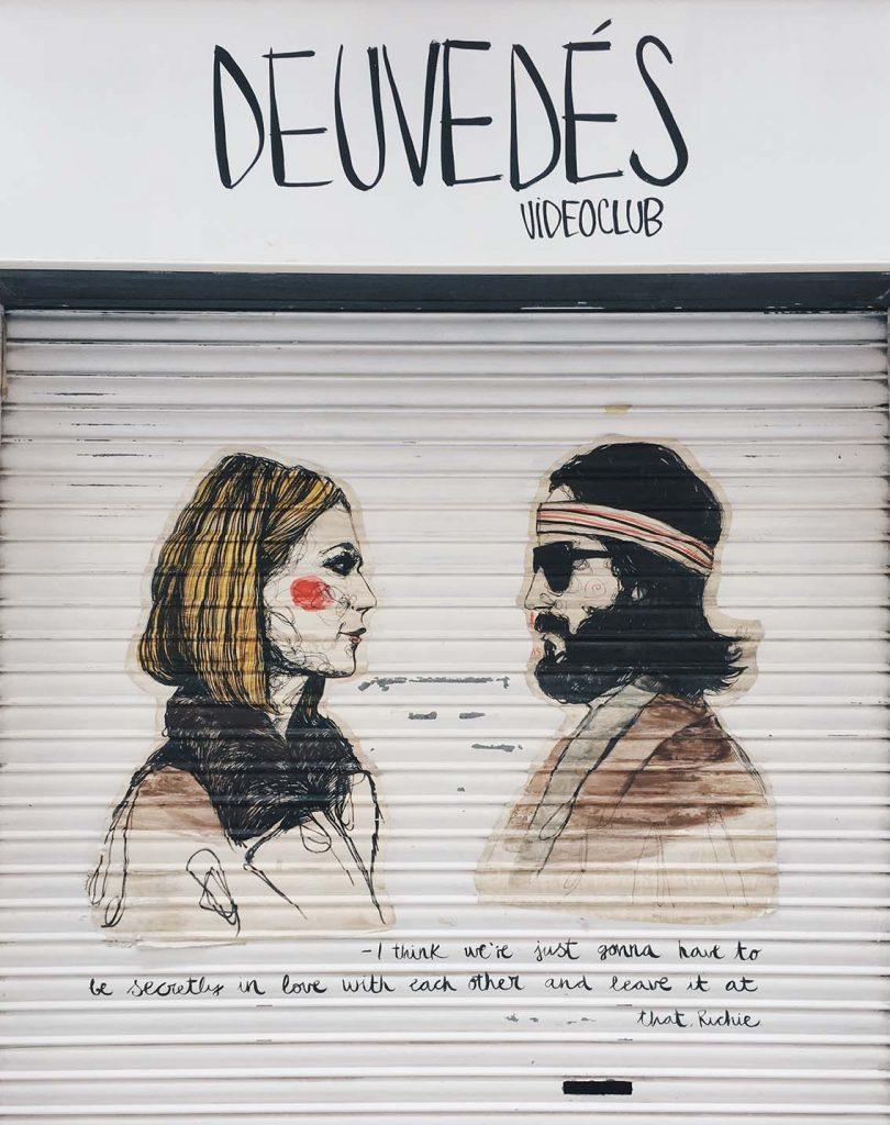 Graffitis Barrio de Gracia Deuvedes Paula Bonet
