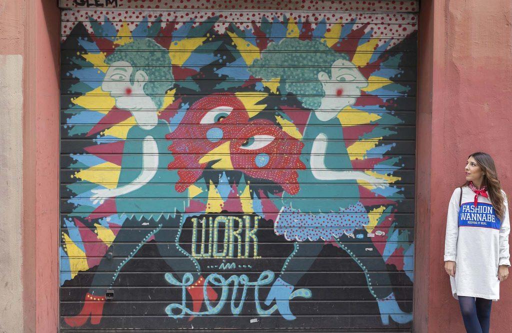 Graffitis Barrio Vila de Gracia Barcelona