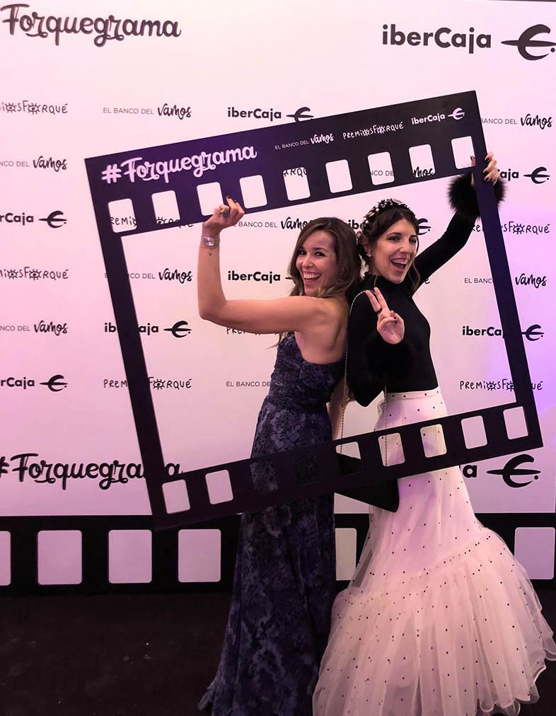 fiesta de los premios forque 2019. Increíble pero cierzo, María y Natalia de OT 2018 y Mai Mailo